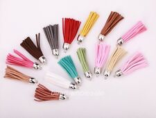 5pcs Hot sale Artificial Leather Tassel pandent for bags,key chains 18 colors