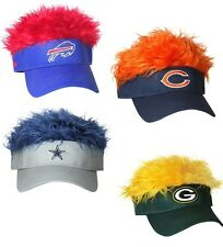 NFL FOOTBALL TEAMS CRAZY FLAIR HAIR VISOR CAP ADJUSTABLE HAT OFFICIALLY LICENSED