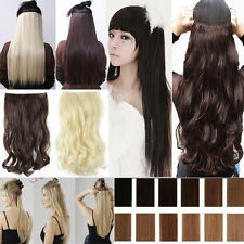 Best Selling One Piece 3/4 Full Head Clip in Hair Extensions Factory Price ssn