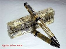 Silver Mica Pen Blanks! Real Genuine Mica and acrylic turning blanks.