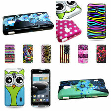 Hard Rubber Design Snap On Phone Cover Case For LG Optimus F6
