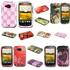 For HTC Desire C / Wildfire C Phone Cover Case - Hard Plastic Design Shell
