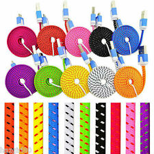 Rapid Charge Braided Micro USB Power Cable For HTC One M8 Nexus 5 7 Moto G X LG