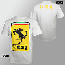 Authentic ENEMY OF THE STATE Stallion Decap Decapitated White T-Shirt M-3XL NEW