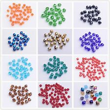 New 500pcs Faceted Glass Crystal Bicone Loose Spacer Beads 3mm 29Colors For Pick