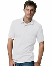 Hanes Cotton-Blend Jersey Men's Polo with Pocket style 504
