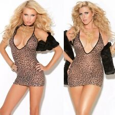 Leopard Print  Mini Dress Chemise One Size Regular or One Size Queen EM8512