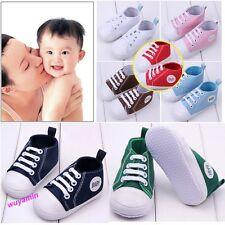 New baby girls boys soft Sole Crib Shoes kids Newborn Sneakers to 18 Months