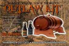 2 Liter Outlaw Kit - Make Your Own Spirits, Natural Oak With Black Hoops