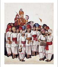 """KUTCH SCHOOL """"Wedding Procession"""" Indian print CANVAS various SIZES, BRAND NEW"""