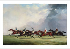 """JOHN DALBY """"Finish For The Ascot Cup"""" RIVALRY race horses whip NEW CANVAS giclee"""