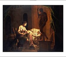 "JOSEPH WRIGHT ""Penelope Unravelling Web"" Myth Print various SIZES available, NEW"