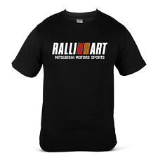 1544-BK Mitsubishi Ralliart Evo Evolution Lancer Turbo JDM Black Men T-Shirt