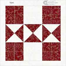 Memorable Quilt Block reproduced Pieced Look cotton  6x6 Free US Ship for 2/more