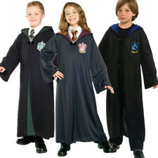 New Harry Potter Child Robe Gryffindor/Slytherin/Hufflepuff/Ravenclaw Cloak Cape
