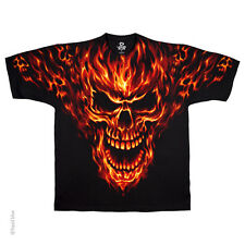 New RAGING INFERNO SKULL T Shirt