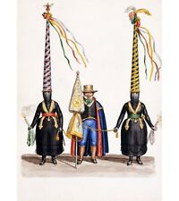 SOUTH AMERICAN Figures in the Procession of Holy Monday BIZARRE colombia NEW!!