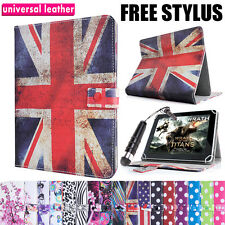 "UNIVERSAL 10"" INCH LEATHER STAND CASE COVER WALLET FOLIO FOR ANDROID TABLET PC"