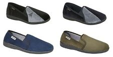 DUNLOP QUALITY MENS BOYS SLIPPERS BLACK OR NAVY SIZE UK 6-13 NEW IN BOX
