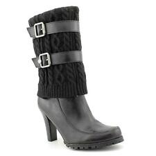 Marc Fisher Fabric Leather Fashion Mid-Calf Boots - No Box