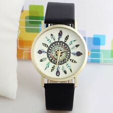 New Arrival Leather Peacock Feather Watch For Women Dress Watch Quartz Watches