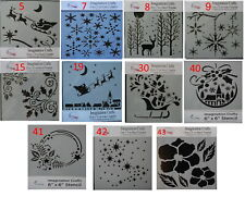 "Imagination Crafts  MASK Stencil template 6"" x 6"" CHRISTMAS Assorted Designs"