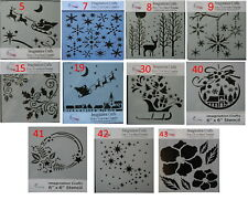 """Imagination Crafts  MASK Stencil template 6"""" x 6"""" CHRISTMAS Assorted Designs"""
