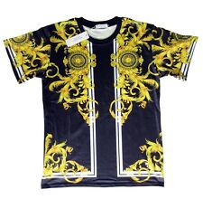 Brand New Authentic Versace T-Shirt Gold Dragon Baroque Details Size M,L,XL