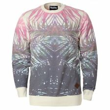 Mossimo Mens Gents White All over Palm Print Design Casual Regular Fit Sweater