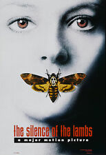 """Poster """"SILENCE OF THE LAMBS""""..Foster/Hopkins Classi Film Horreur A1 A2 A3 A4"""