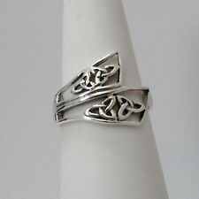 Celtic Knot Trinity Ring - 925 Sterling Silver - Irish Celtic Knot Gaelic *NEW*