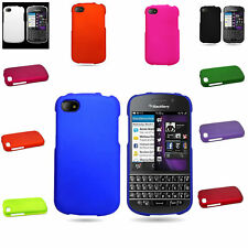 Hard Case Plastic Skin Rubberized Snap On Cover for Blackberry Q10