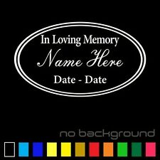 In loving Memory Sticker Vinyl Decal Custom Remembrance Personalized Car Window