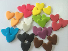 EDIBLE CAKE TOPPERS CUPCAKE DECORATIONS BIRTHDAY MINI 1CM HEARTS  X 100