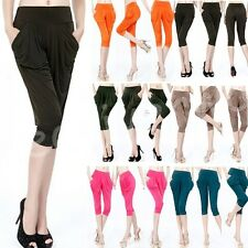 2014 New Fashion Women Summer Candy Color Maxi Loose Short Legging Harem Pants