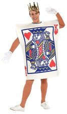 Mens King Of Hearts Poker Playing Card Alice in Wonderland Costume
