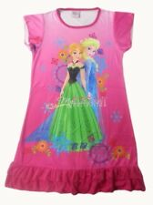 Disney Frozen Elsa Anna Children Kids Party Dress Girls H Pink Pajama Skirt 3-10