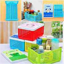 1Pcs Useful Foldable Kitchen Desktop Food Storage Basket Boxes With Lid Baskets