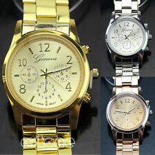 Women Girsl Unisex Delicate Charm Geneva Stainless Steel Quartz Wrist Watches