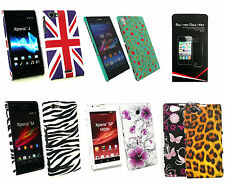 Stylish Clip On Hard Back Case Cover for Sony Xperia Models & Screen Protector
