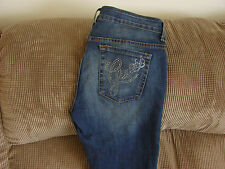 "Guess Woman's Rhinestone Boot Cut Jeans Waist Sizes 27 28 29   ""NEW"""