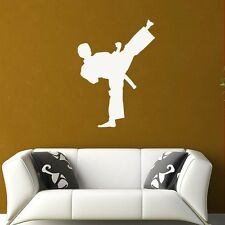 Karate Kick Wall Decal, Vinyl Sticker