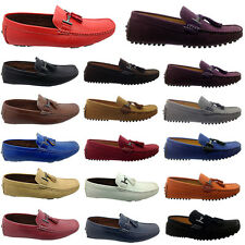 MENS ITALIAN LOAFERS MOCCASIN TASSEL DRIVING CASUAL PARTY  SLIP ON SHOES