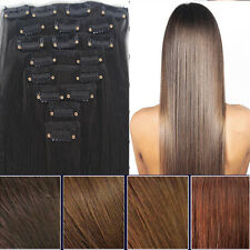 """23"""" 8PCS Long Straight 8 Piece Clip In full head Hair Extension Extensions curly"""
