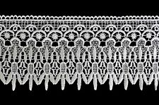 """Unotrim 4.5"""" White & Ivory Venice Lace Ribbon Trim Guipure Trimming By Yardage"""