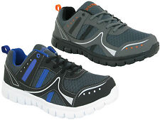 MENS TEXTILE UPPER CASUAL LACE UP TRAINER SPORTS GYM RUNNING WALKING SHOES SIZE