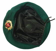 USSR Soviet Russian Army Style Green Military Beret Hat Cap Border Troops Badge