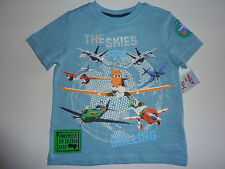 DISNEY PLANES 'The Skies Are Calling' Blue T-Shirt NWT