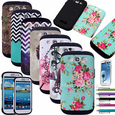 Heavy Duty Defender Hybrid Impact Hard Case Cover For Samsung Galaxy S3 III 9300