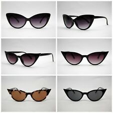 VTG 50s/60s Style womens Cat Eye Sunglasses Retro Rockabilly Glasses clear lens